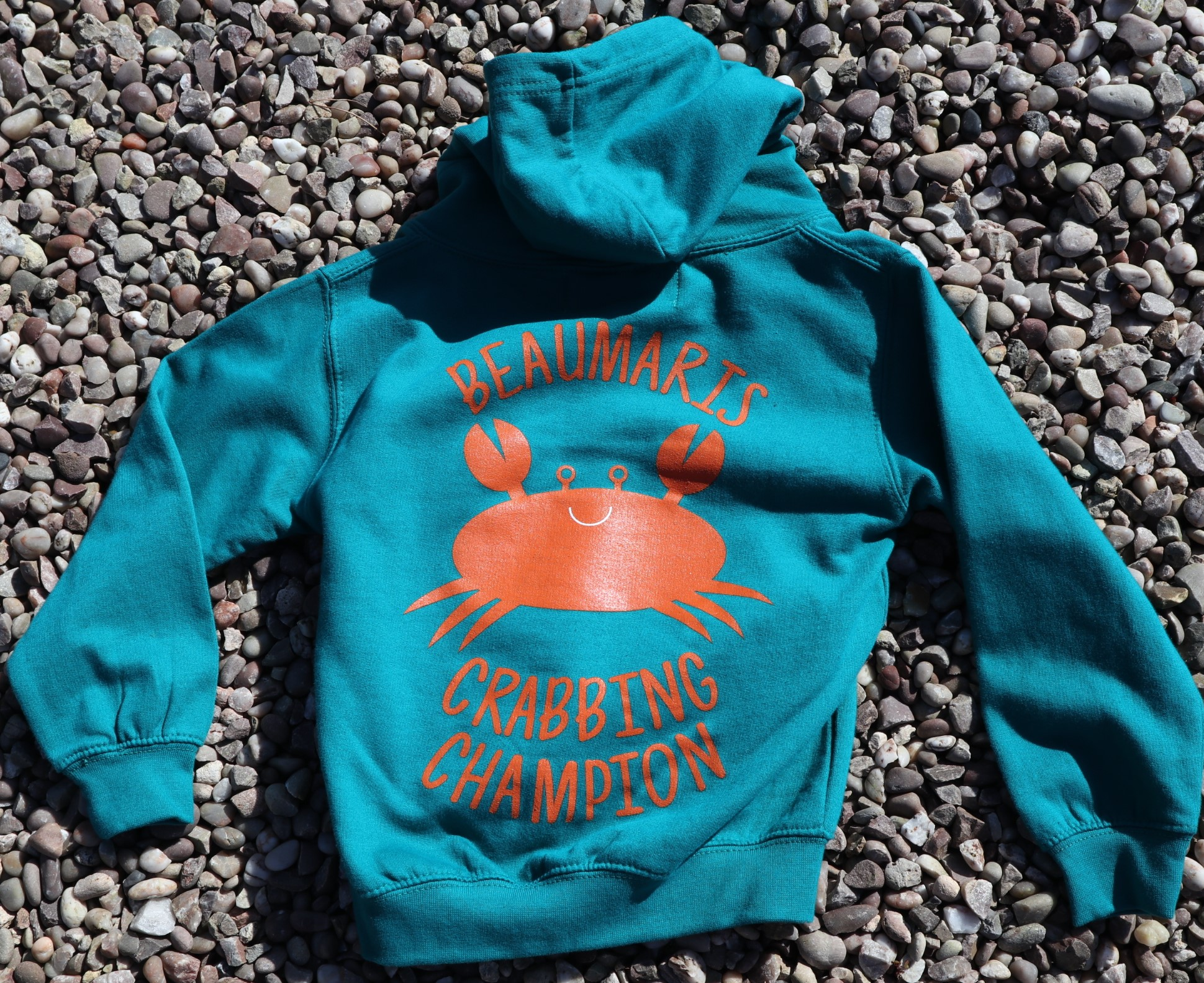 Kids Beaumaris crabbing champion hoody jade