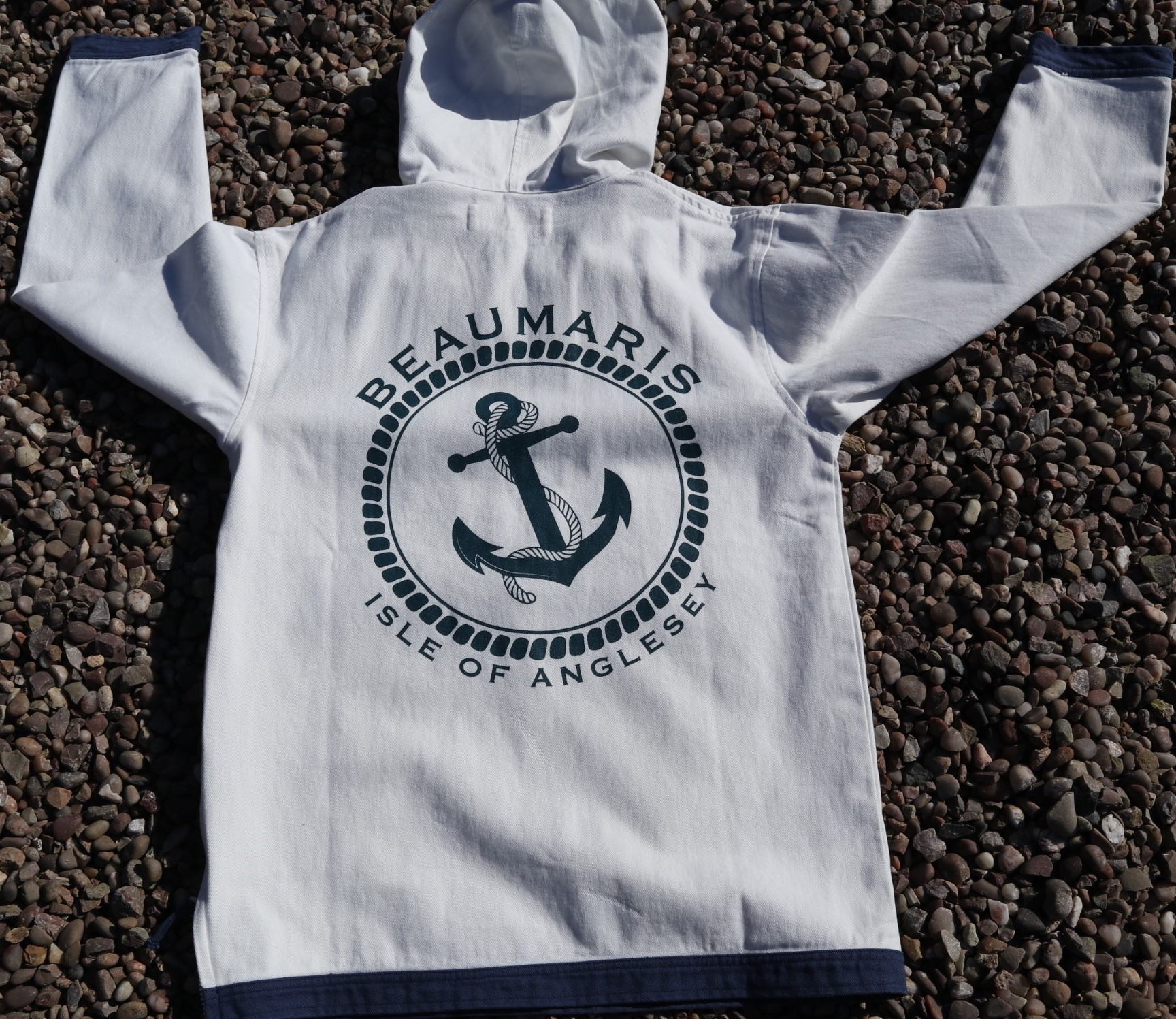 coast canvas hoody with zip neck chalk
