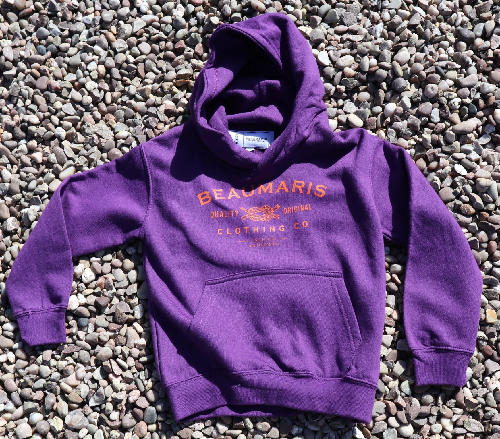 Kids Beaumaris crabbing champion hoody purple