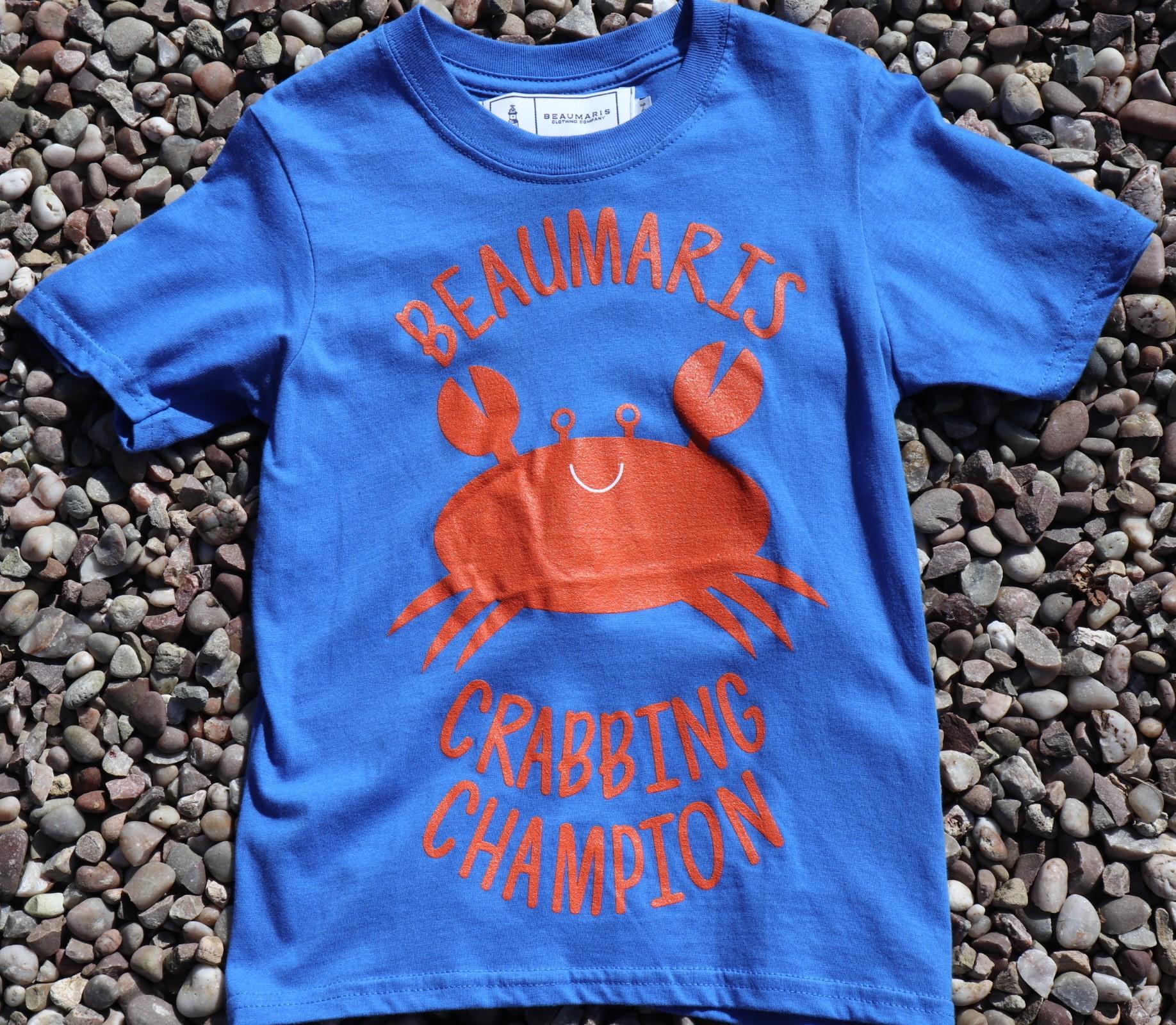 kids beaumaris crabbing champion tee royal