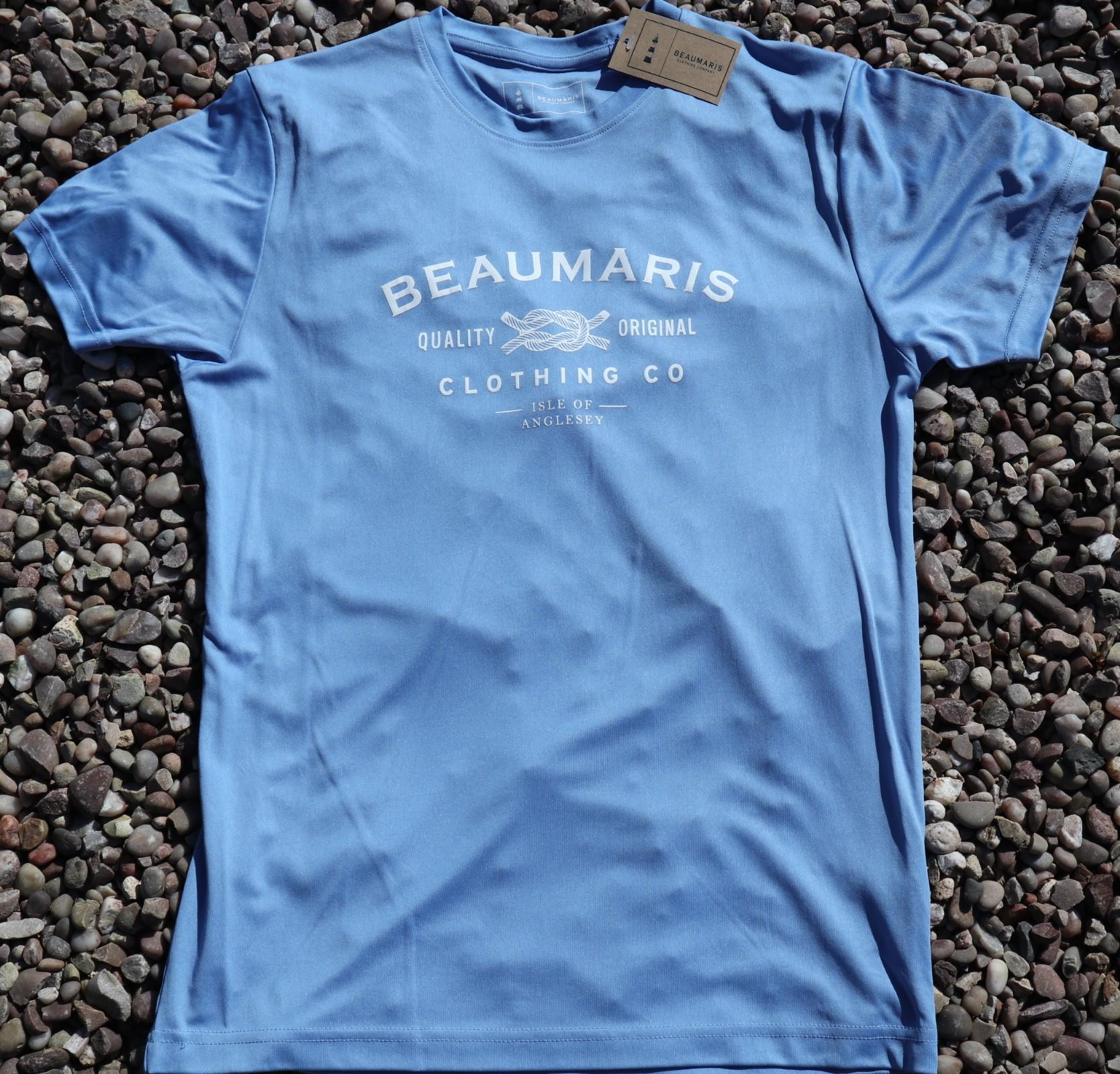Beaumaris clothing company logo tee sky