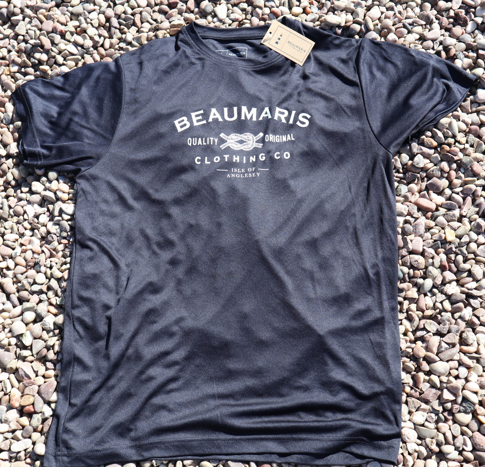 Beaumaris clothing company logo tee french navy