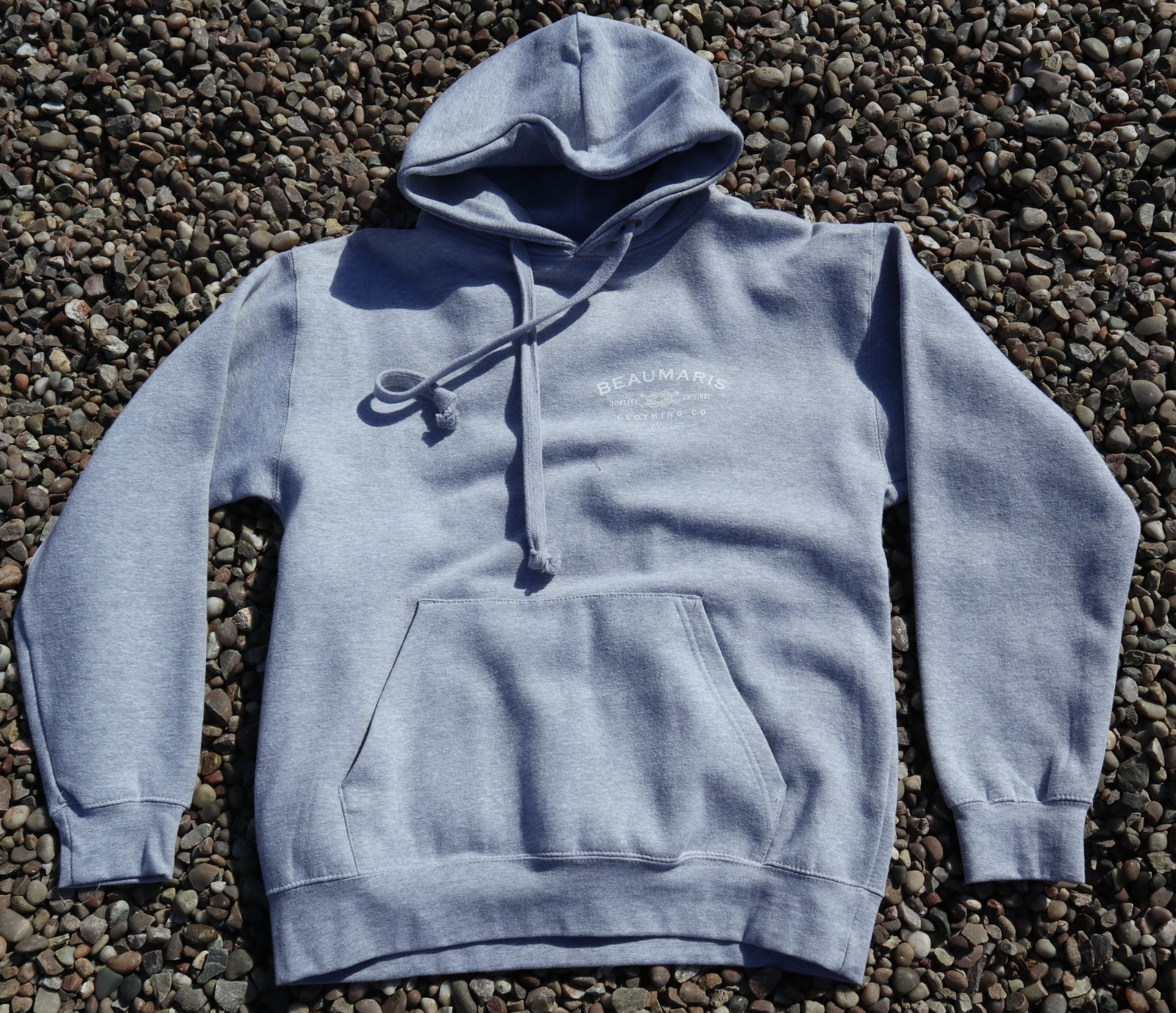 Beaumaris clothing company hoody grey marl