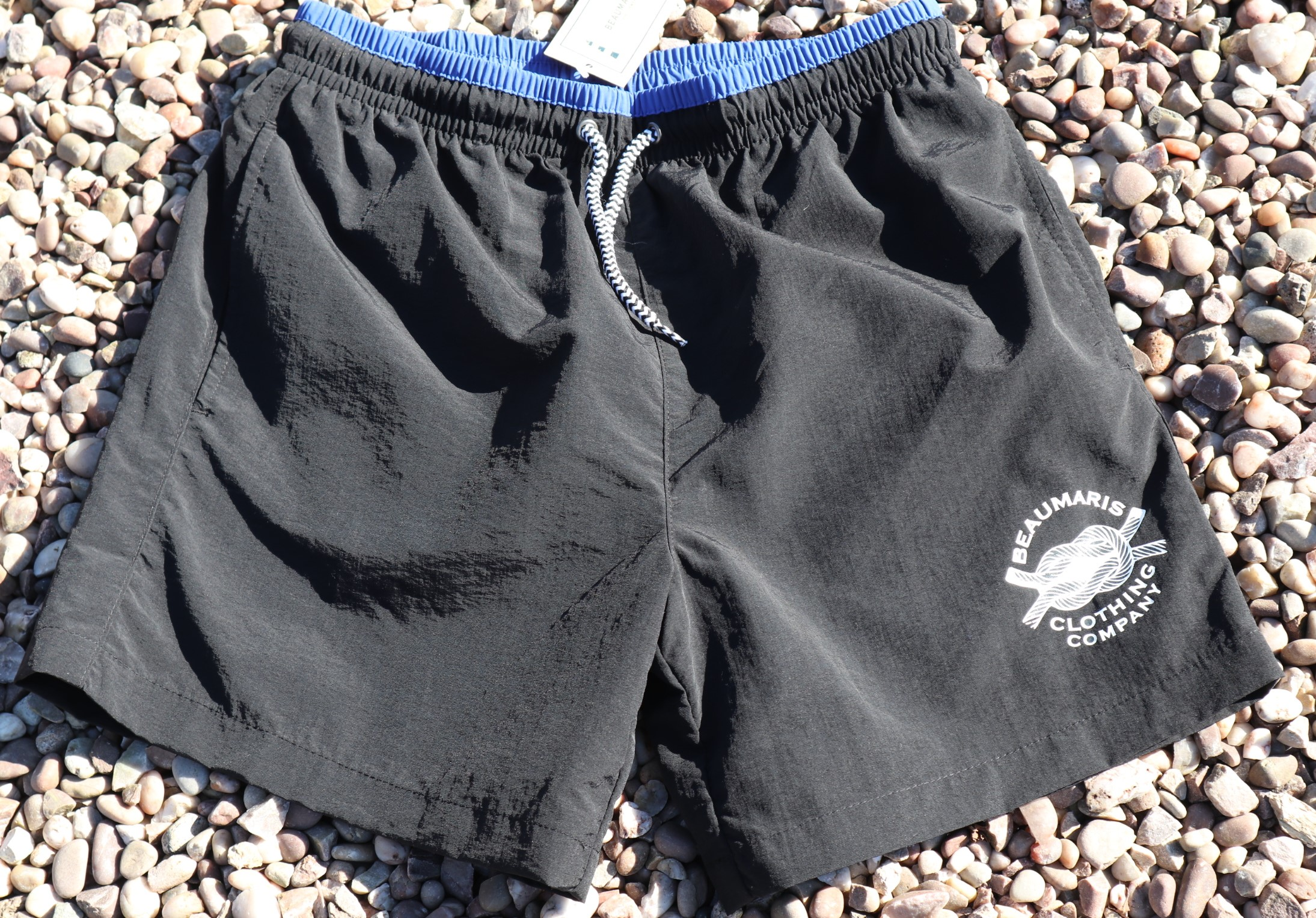 Mens swim shorts black