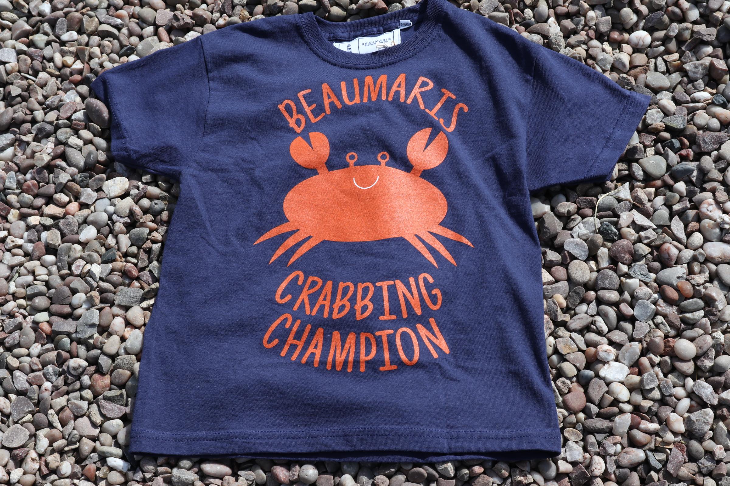 kids beaumaris crabbing champion tee navy