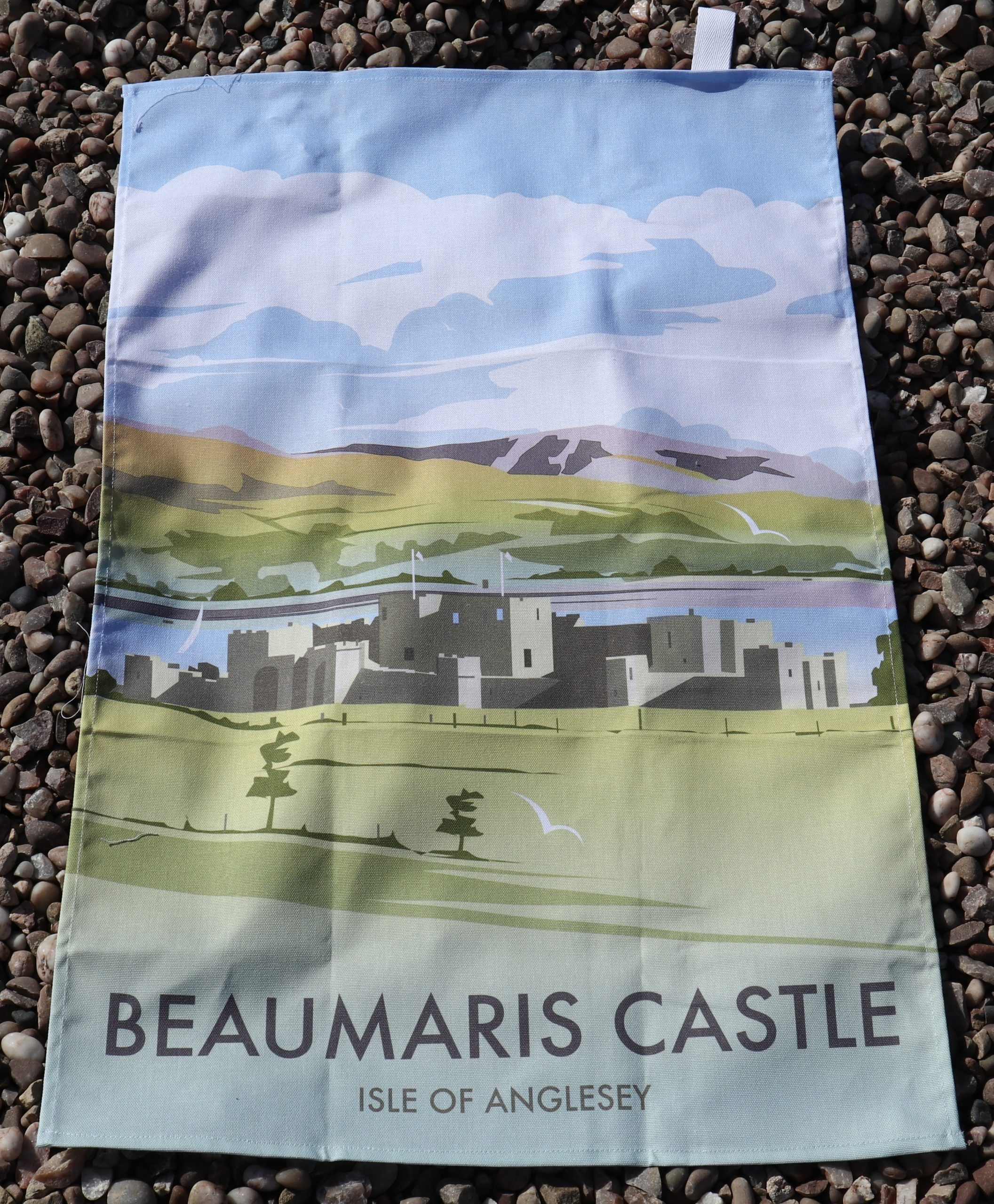 Beaumaris tea towels castle