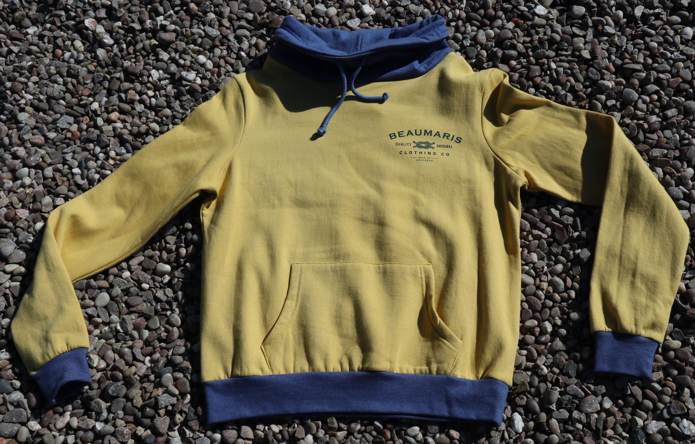 cowl neck jersey sweat top yellow