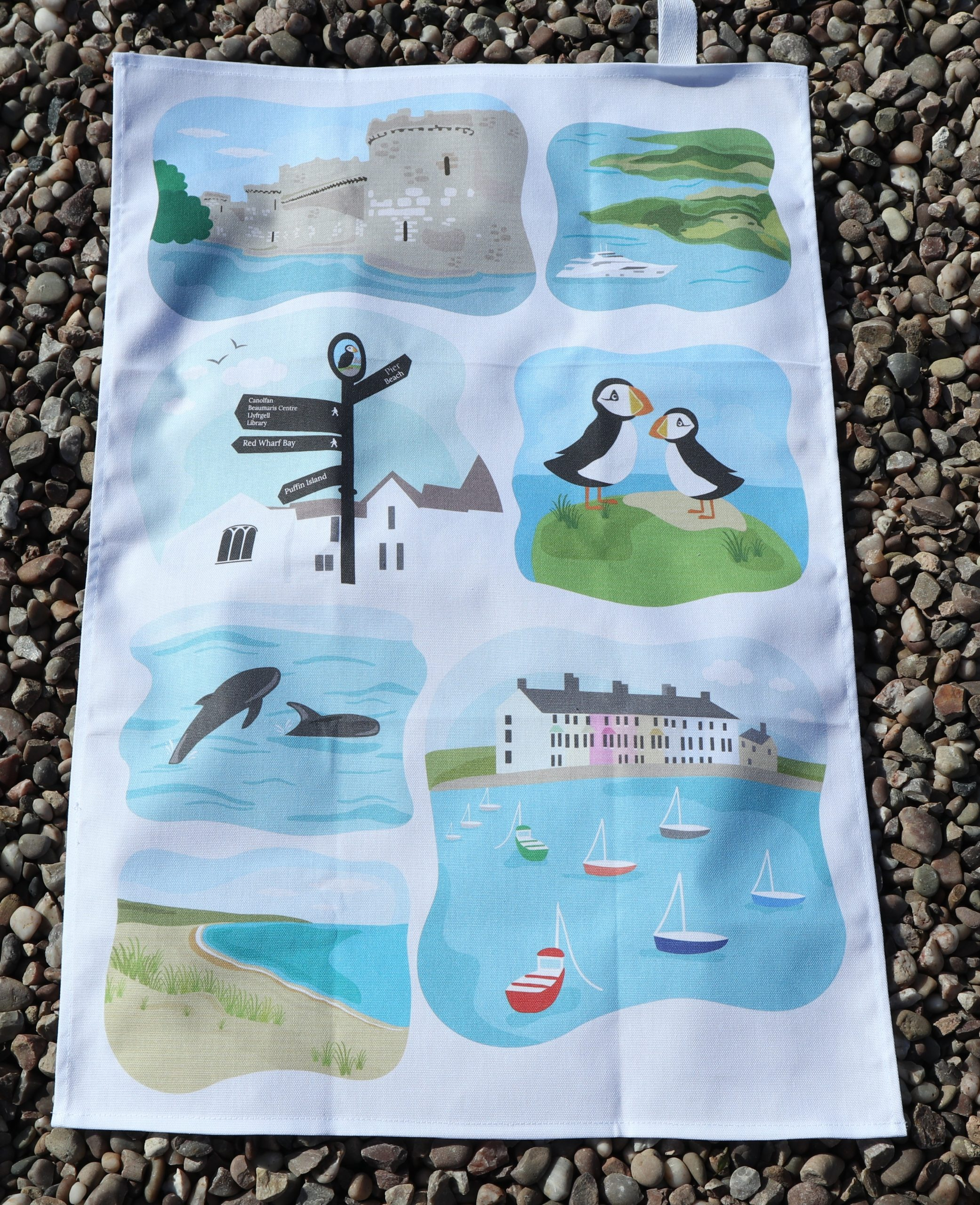 Beaumaris tea towels town scenes