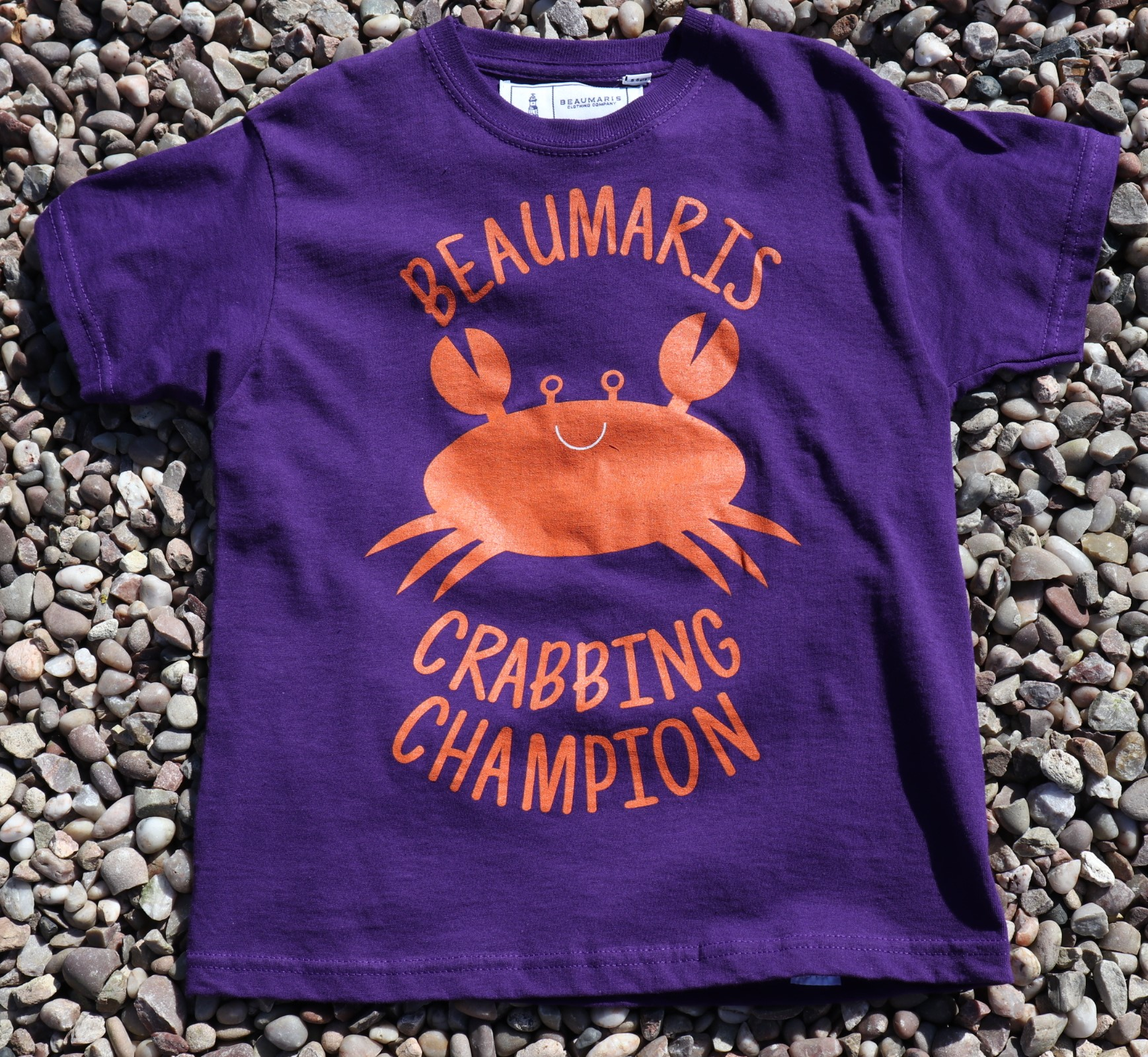 kids beaumaris crabbing champion tee purple