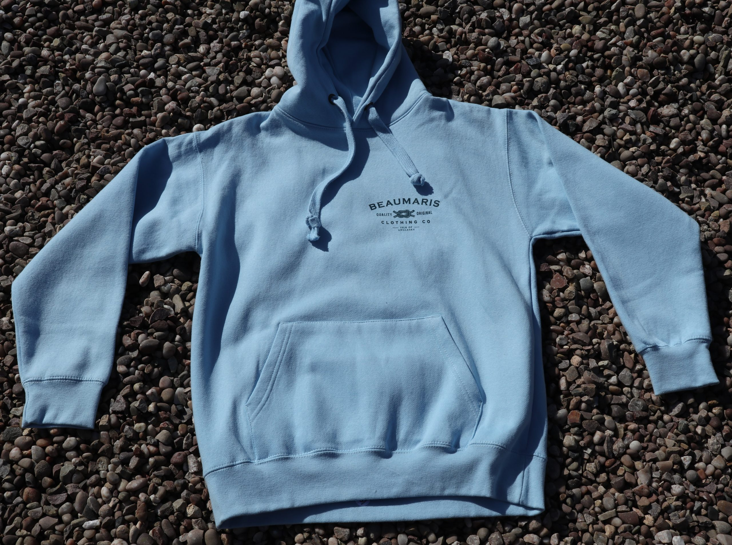 Beaumaris clothing company hoody sky