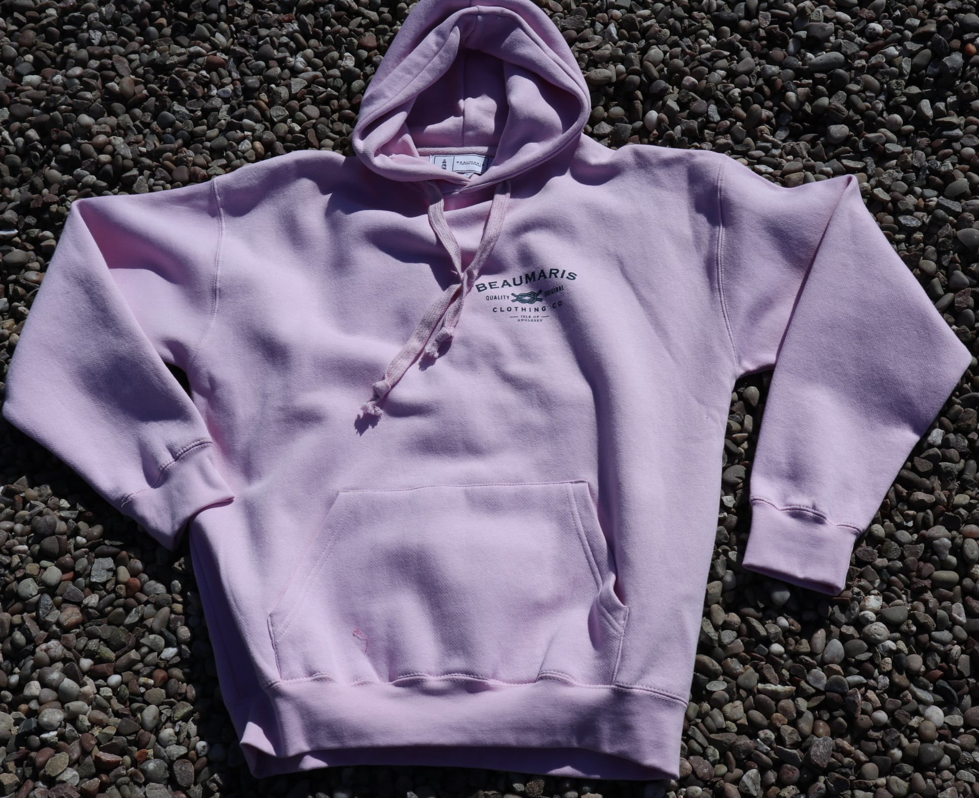 Beaumaris clothing company hoody pale pink