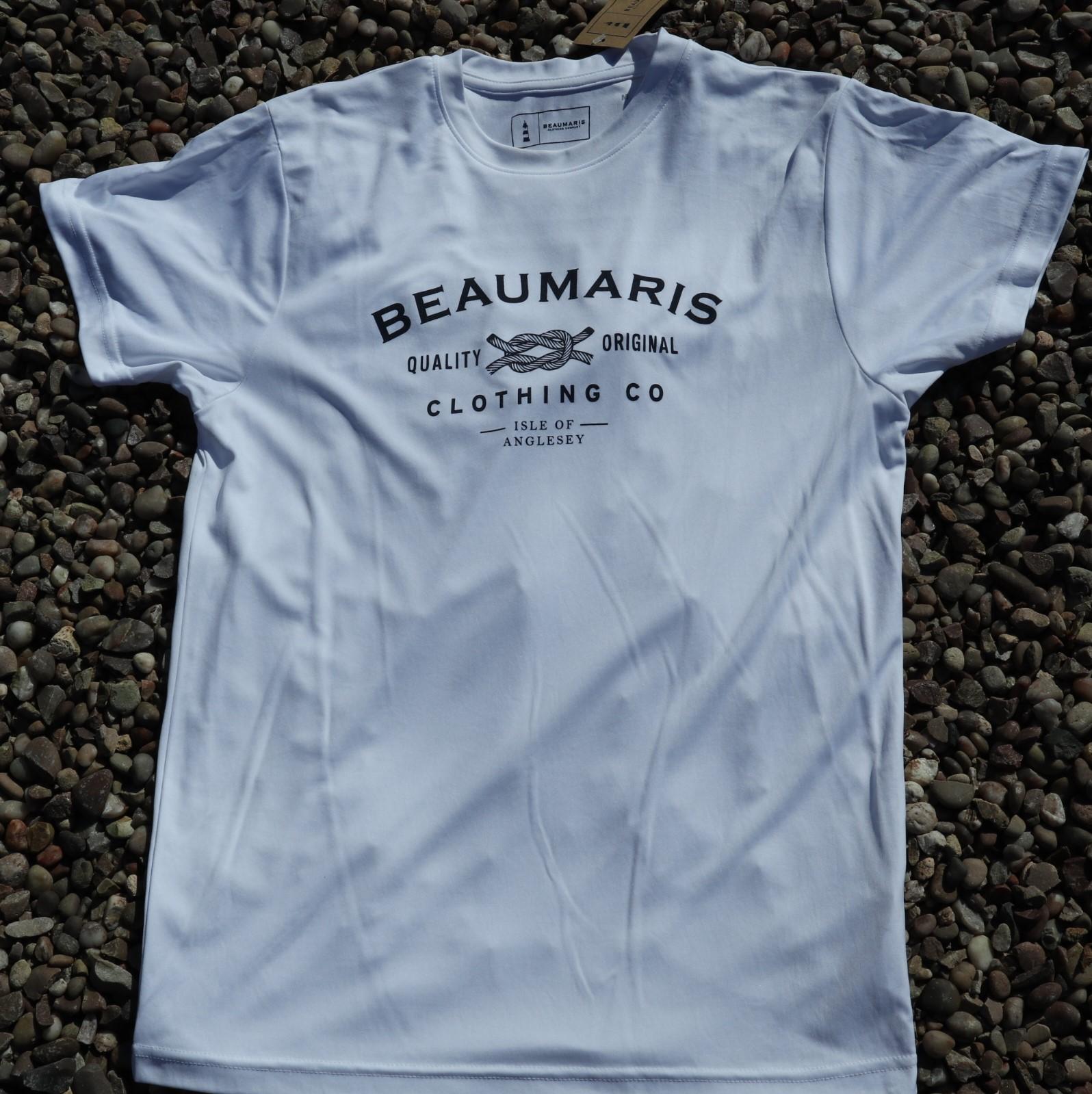 Beaumaris clothing company logo tee white