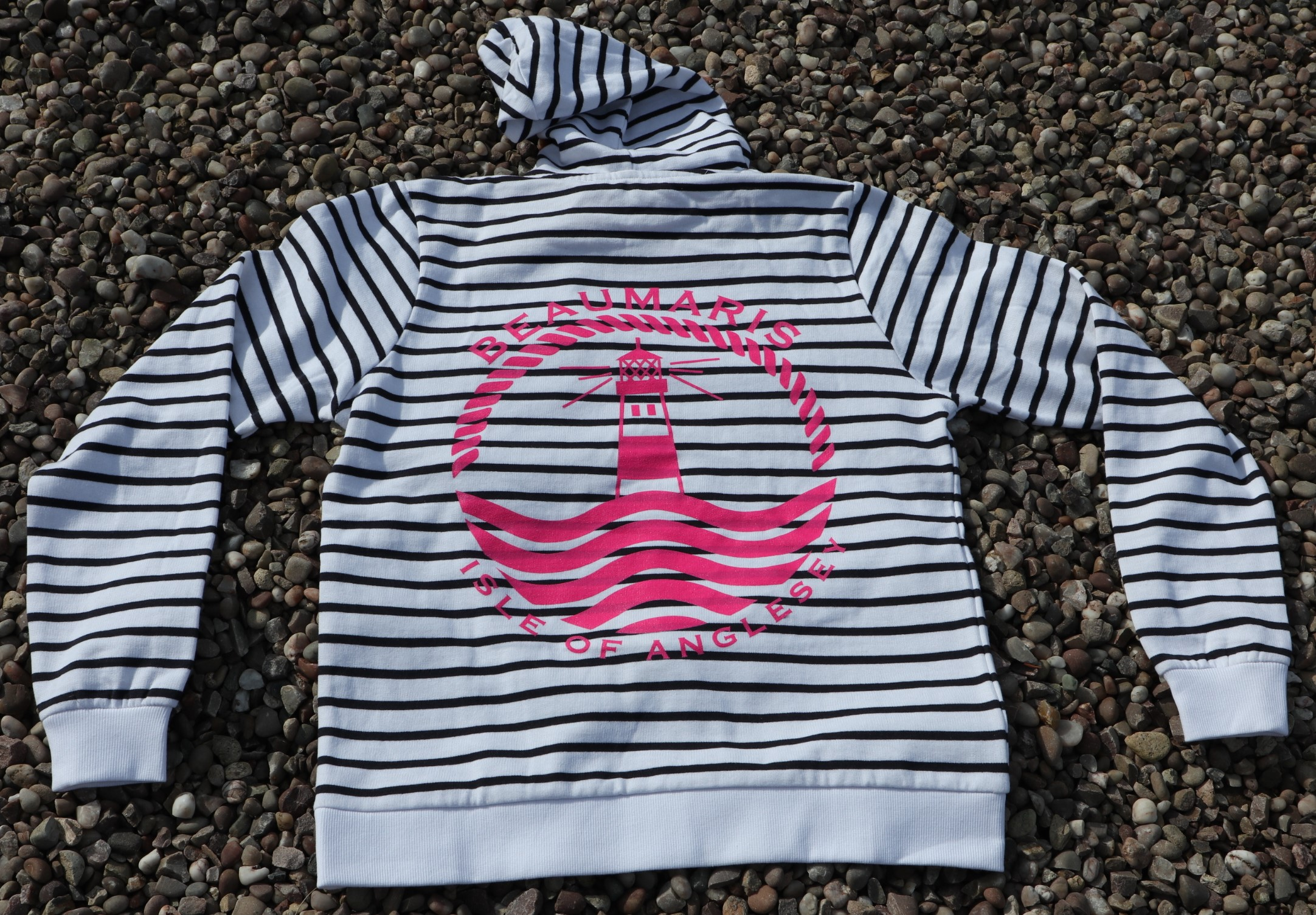 Ladies marine striped BCC hoody