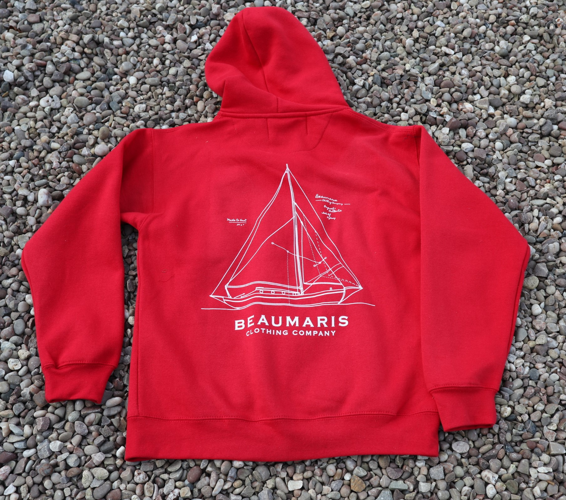 Zip through hoody red